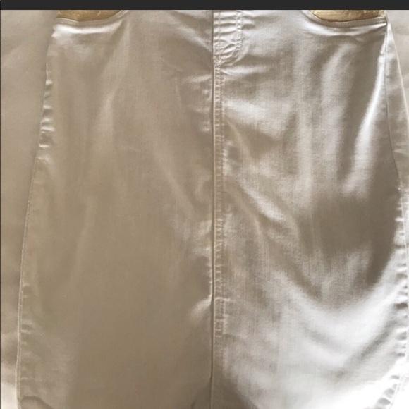 seven two denim Dresses & Skirts - Seven two denim white maternity denim jean skirt